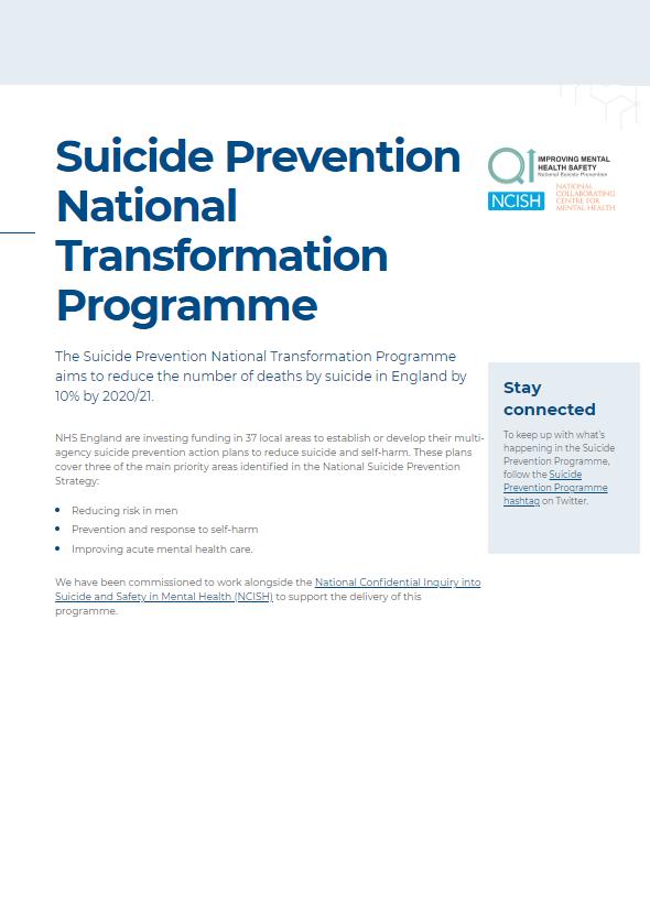 Suicide Prevention National Transformation Programme