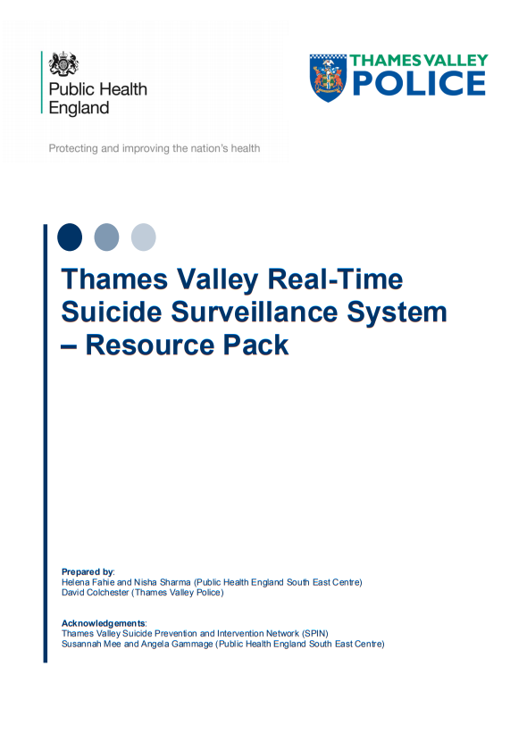 Thames Valley Real-Time Suicide Surveillance System