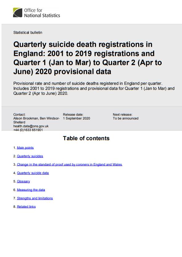 2020 provisional statistics