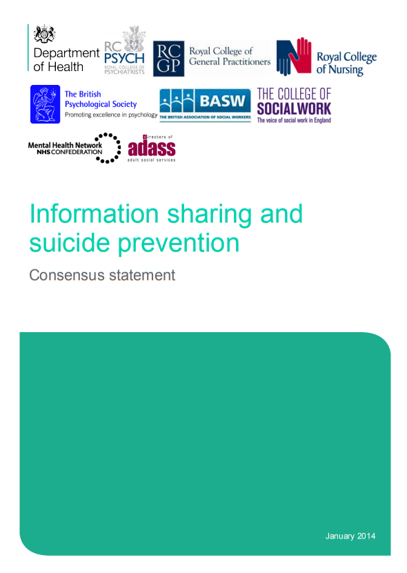 Consensus statement on information sharing