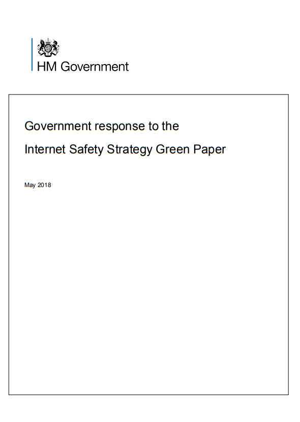 Government response to the Consultation on the Internet Safety Strategy Green Paper