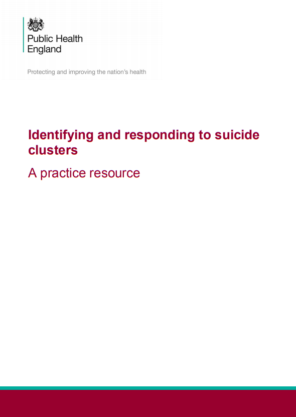 Identifying and responding to suicide clusters