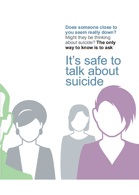 It's safe to talk about suicide