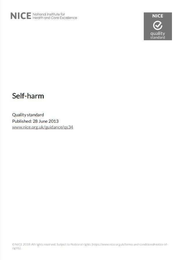 NICE Quality Standards – Self-Harm
