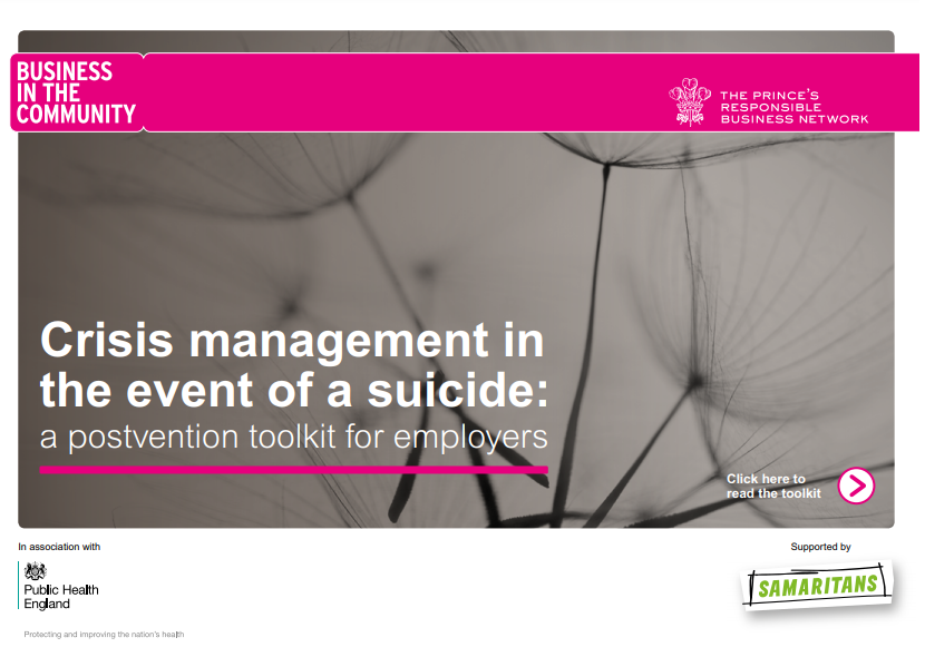 Suicide postvention toolkit for workplaces