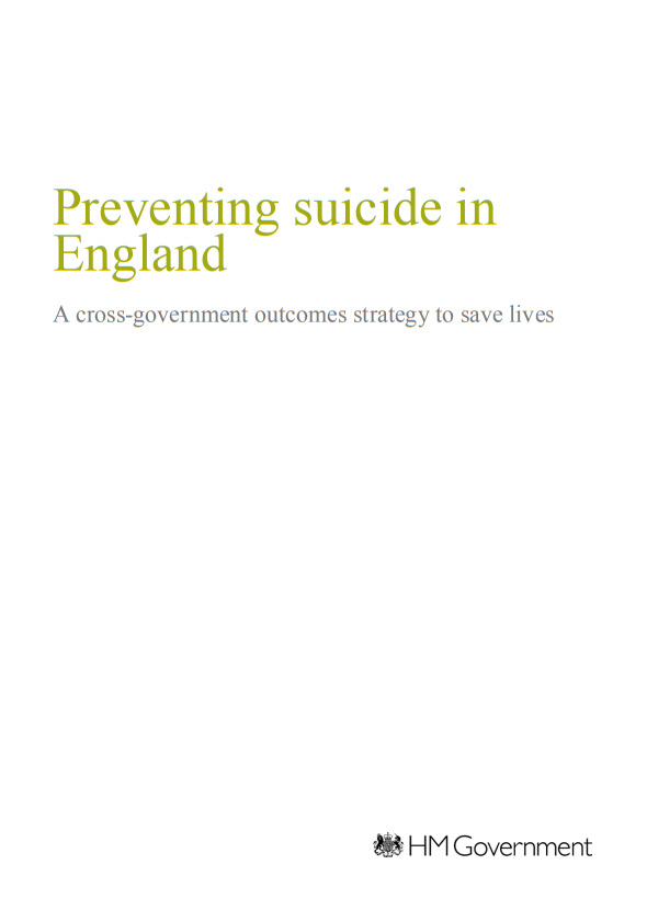 Suicide prevention strategy for England 2012