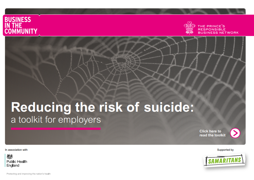 Suicide prevention toolkit for workplaces reducing the risk