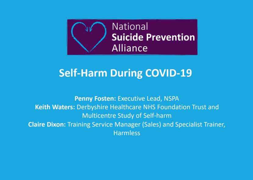 Webinar Self-harm prevention during Covid-19